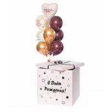 Коробка с шарами «Светлый шоколад»