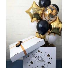 Коробка-сюрприз с шарами на День Рождения