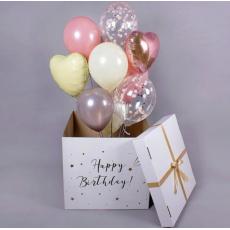 Коробка-сюрприз с шарами Пастельный