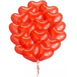 """Облако из шаров """"Красные сердечки"""""""