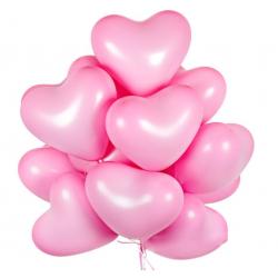 "Облако из шаров ""Розовые сердечки"" 30 см"