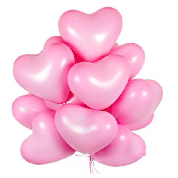 """Облако из шаров """"Розовые сердечки"""""""