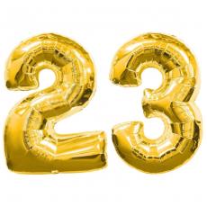 Цифры 23 из фольги с гелием 102 см