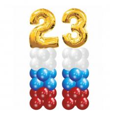 2 столбика с цифрами 23