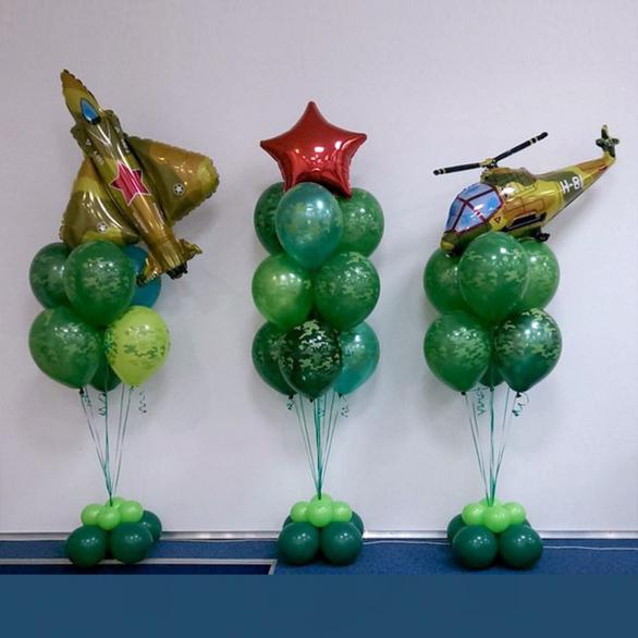 Букеты из шаров с военной техникой