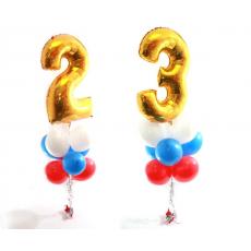2 фонтана с цифрами 23
