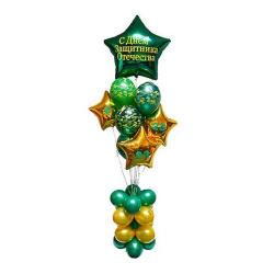 Столбик с шариками на 23 февраля