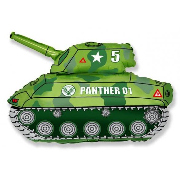 Шар из фольги танк зеленый