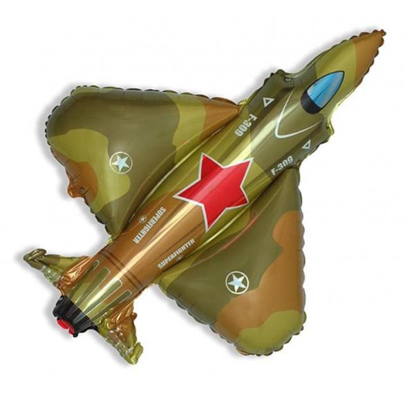 Шар из фольги Самолет истребитель, военный