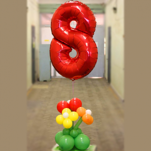 Композиция из шаров с цифрами