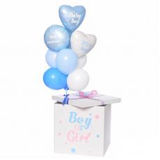 """Коробка с шарами """"Сюрприз! Мальчик или девочка?"""""""