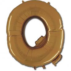Фольгированная Буква Q золото 102 см