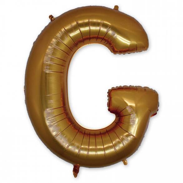 Фольгированная Буква G золото