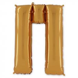 Фольгированная Буква П золото 102 см