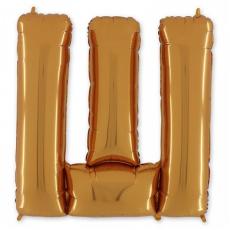 Фольгированная Буква Ш золото 102 см