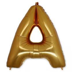 Фольгированная Буква А золото 102 см