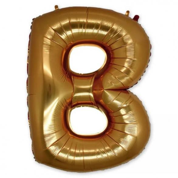 Фольгированная Буква B золото