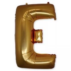 Фольгированная Буква E золото 102 см
