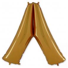Фольгированная Буква Л золото 102 см