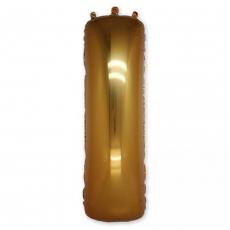 Фольгированная Буква I золото 102 см