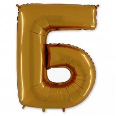 Фольгированная Буква Б золото 102 см