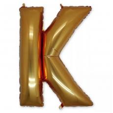 Фольгированная Буква K золото 102 см