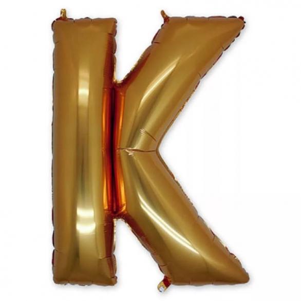 Фольгированная Буква K золото