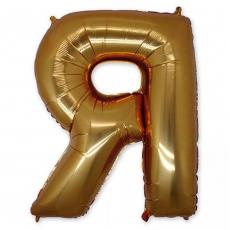 Фольгированная Буква Я золото 102 см