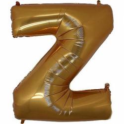 Фольгированная Буква Z золото 102 см