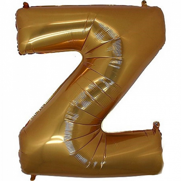 Фольгированная Буква Z золото