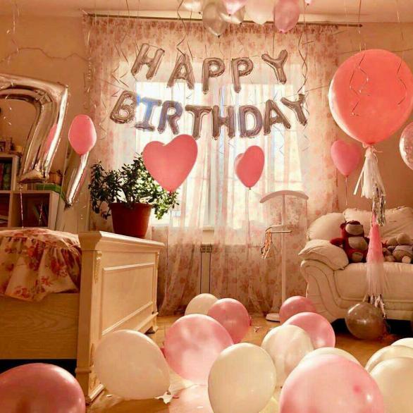 Надпись из фольгированных шаров букв Happy birthday