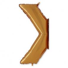 Фольгированный символ > золото 102 см