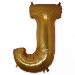 Фольгированная Буква J золото 102 см