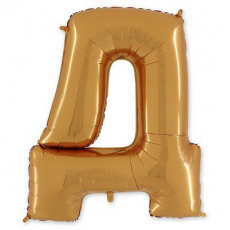 Фольгированная Буква Д золото 102 см