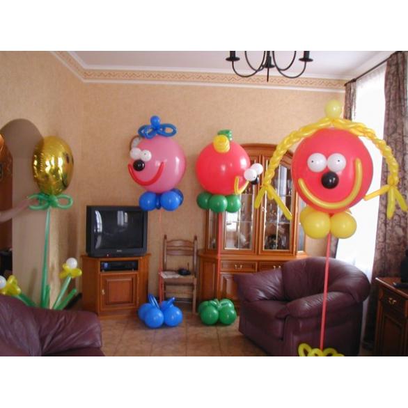 """Фигуры из больших шаров """"улыбашки"""""""