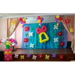 Оформление шарами в детском саду