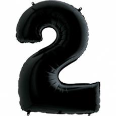 Шар цифра 2 черная 102 см