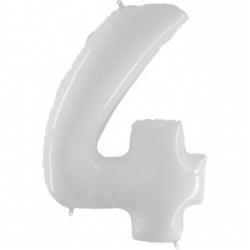 Шар цифра 4 белая 102 см