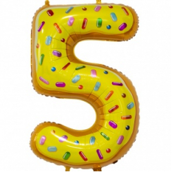 Шар цифра 5 пончик 86 см