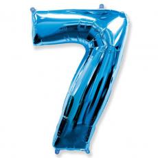 Шар цифра 7 синяя 102 см