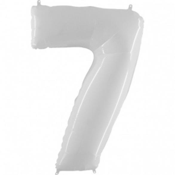 Шар цифра 7 белая 102 см