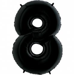 Шар цифра 8 черная 102 см