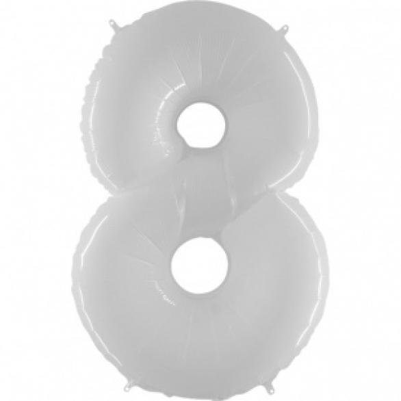 Шар цифра 8 белая 102 см