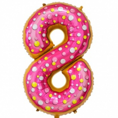 Шар цифра 8 пончик 86 см