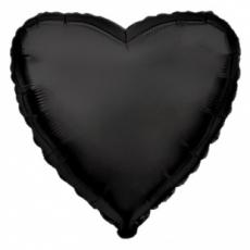 Шар сердце черный 45 см