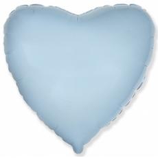 Шар сердце голубой 45 см