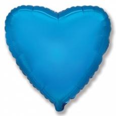 Шар сердце синий 45 см