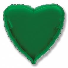Шар сердце зеленый 45 см