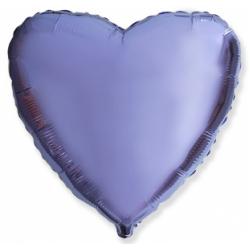Шар сердце сиреневый 45 см