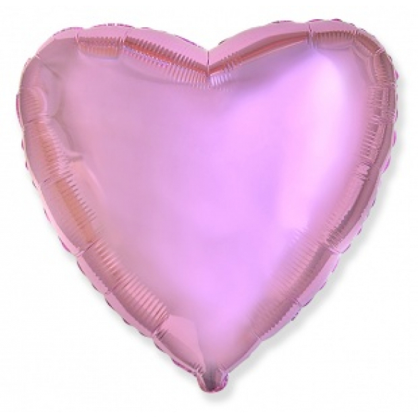 Шар сердце светло-розовый 45 см